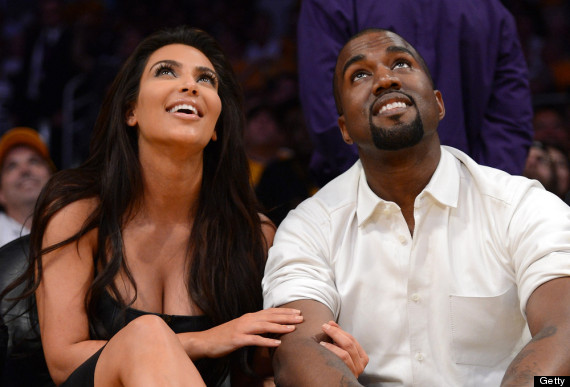 kim kardashian kanye west court side