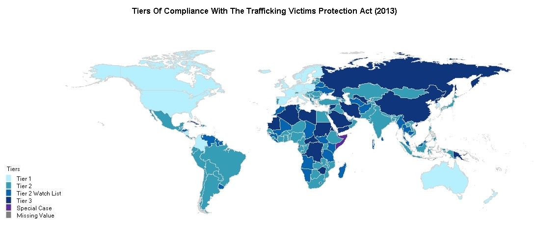 Only Human Trafficking Victims Identified Worldwide In - Us human trafficking map
