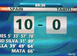 España no tuvo piedad de Tahití (VIDEO)