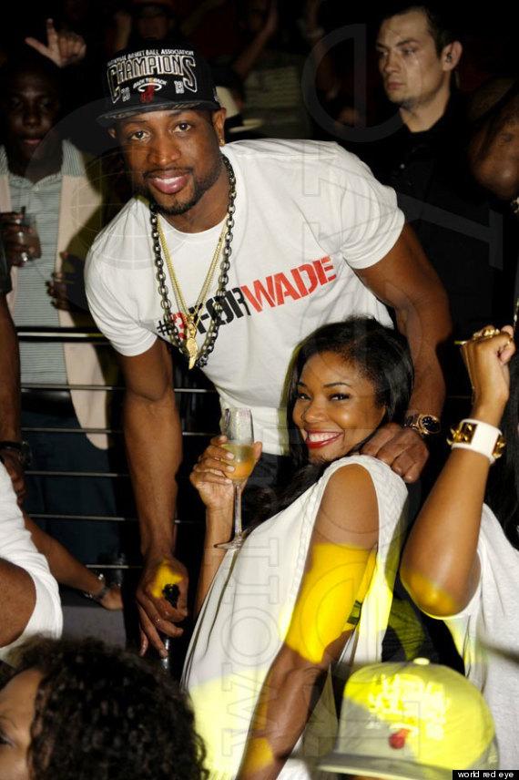 Gabrielle Union And Dwyane Wade Championship 2013 Miami Heat Celebrate A...