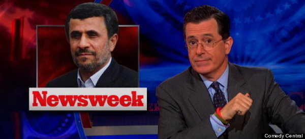 Colbert Says Goodbye To Ahmadinejad
