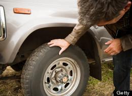 Flying Truck Tire Hits Senior