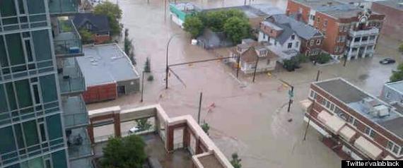 CALGARY FLOOD DOWNTOWN