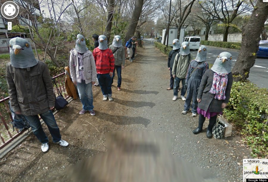 Japan S Google Street View Pigeonheads Are Hilariously