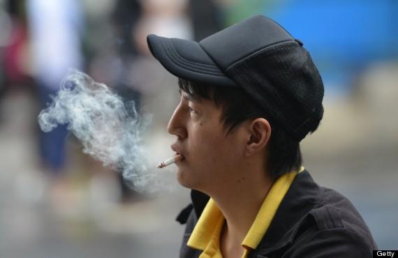 smoking on street