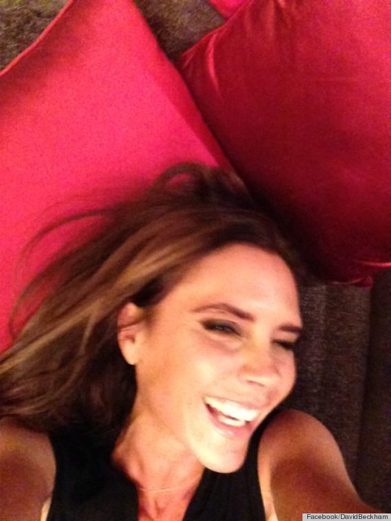 victoria beckham laughing