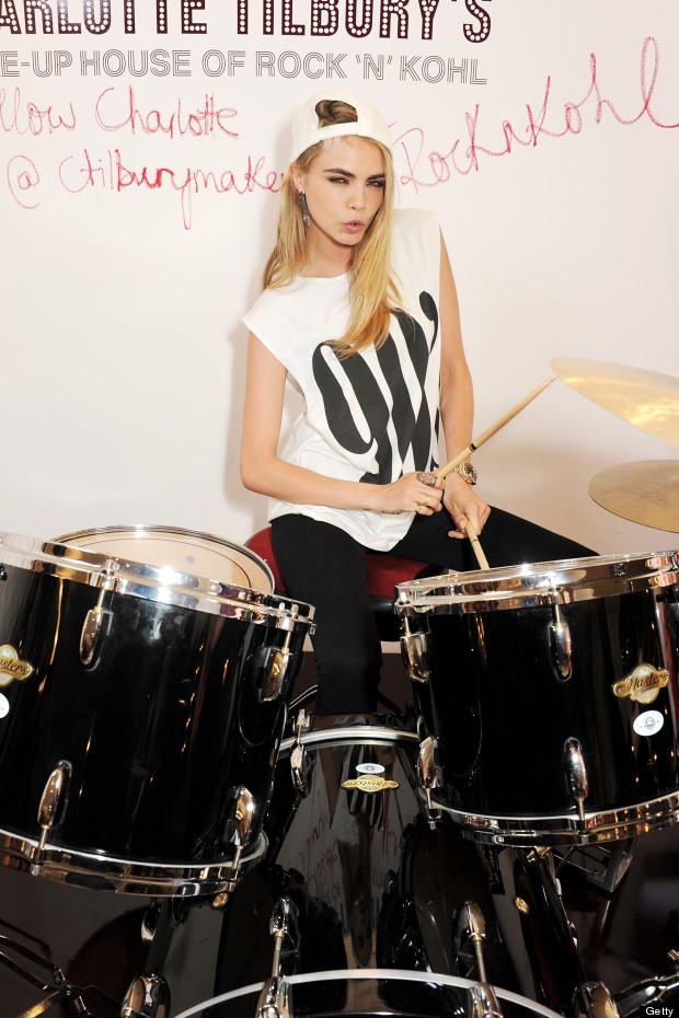 cara delevingne drums