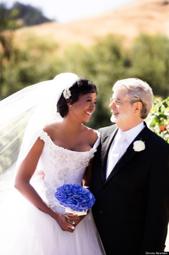 George Lucas married Mellody Hobson Filmmaker Business Woman Wed In California EXCLUSIVE PHOTO
