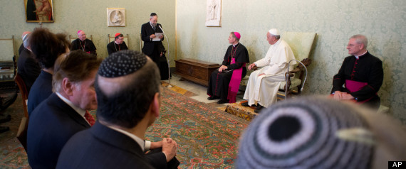 Pope with Jewish leaders