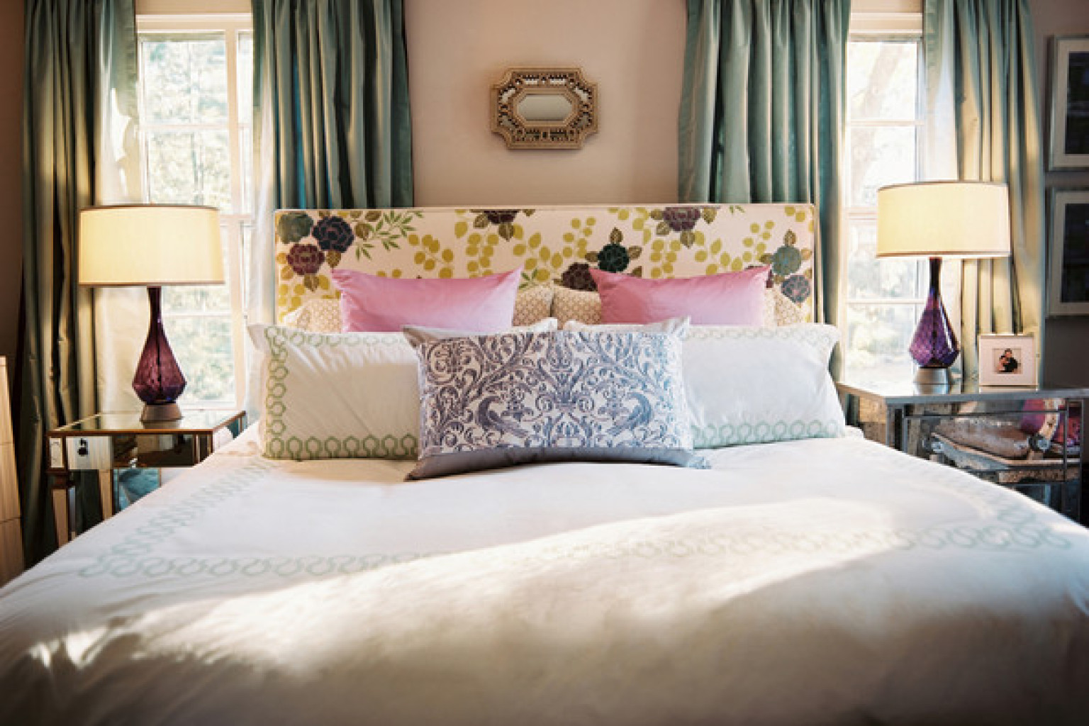 8 romantic bedroom ideas from lonny that will totally get you in the mood photos huffpost Master bedroom bed against window