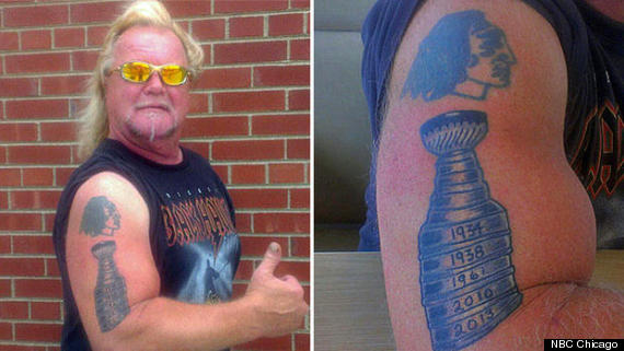 stanley cup tattoo blackhawks