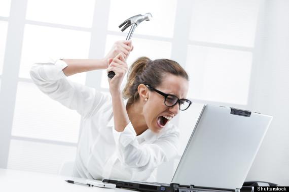 frustrated desk