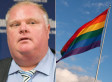 Rob Ford Bothered By Olympic Pride Flag At Toronto City Hall