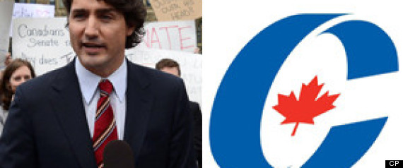 TRUDEAU PROTEST CONSERVATIVE INTERNS