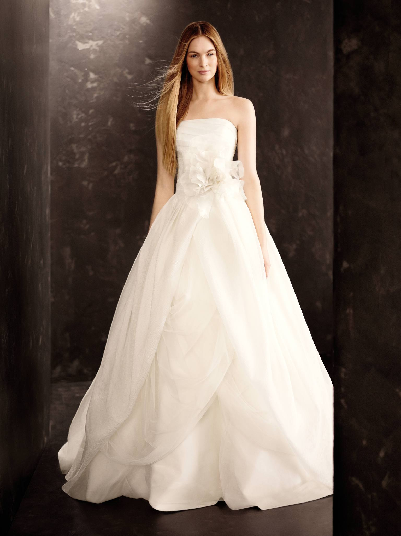White by vera wang fall 2013 collection released at david for Wedding dresses that are white