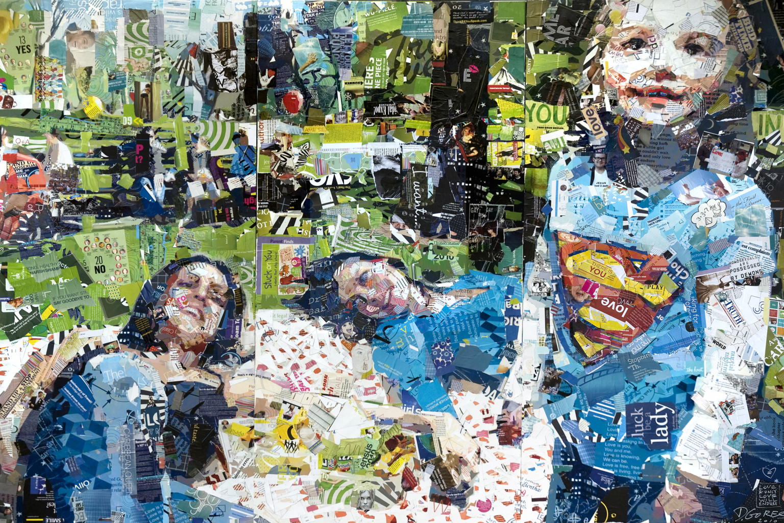 artist derek gores creates incredible collage from hate speech photo. Black Bedroom Furniture Sets. Home Design Ideas