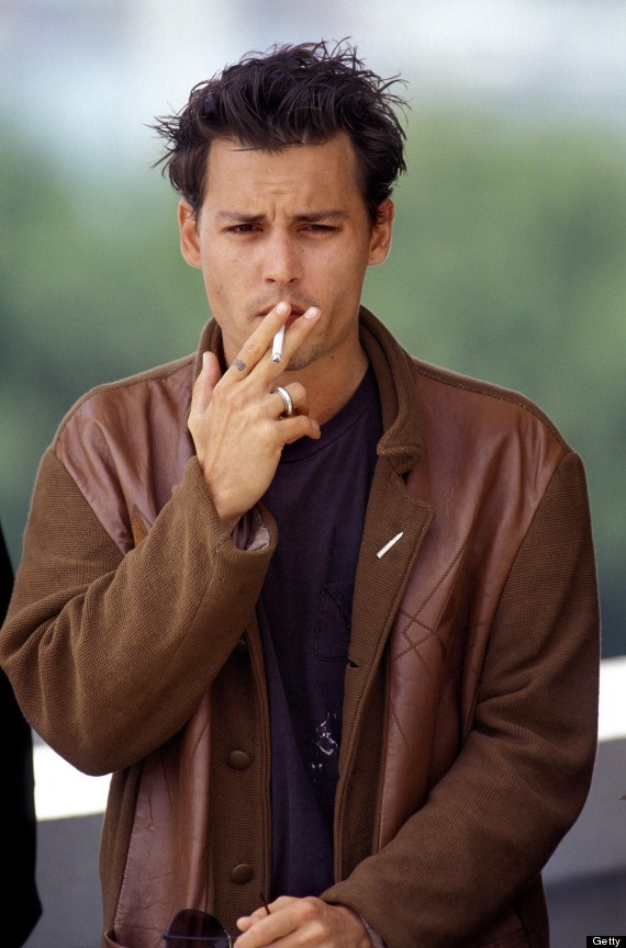 Strange Johnny Depp39S Short Hair Actor Goes Back To His 3990S Do Photos Short Hairstyles Gunalazisus