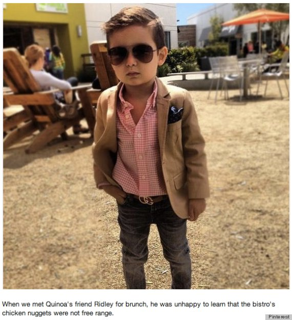imaginary welldressed toddler