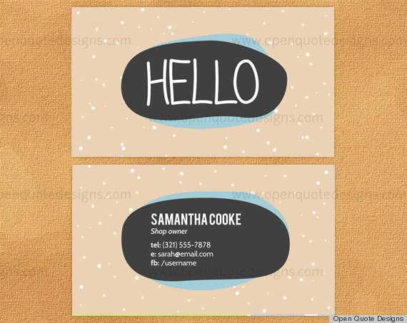 10 printable business cards from etsy that are anything but boring credit open quote designsetsy colourmoves