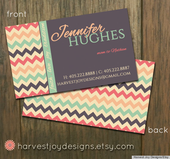 10 printable business cards from etsy that are anything but boring credit harvest joy designsetsy reheart Gallery