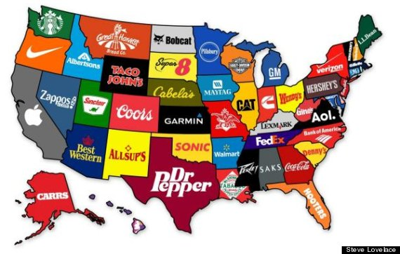 The United States Of Corporate America Illustrated In 1 Chart: Pic Of The United States At Slyspyder.com