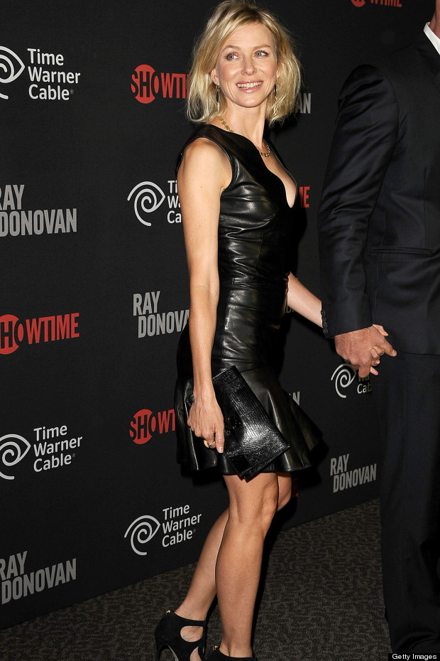 Looking Good Naomi Watts Launches Tv Series In Leather Lbd Huffpost Uk