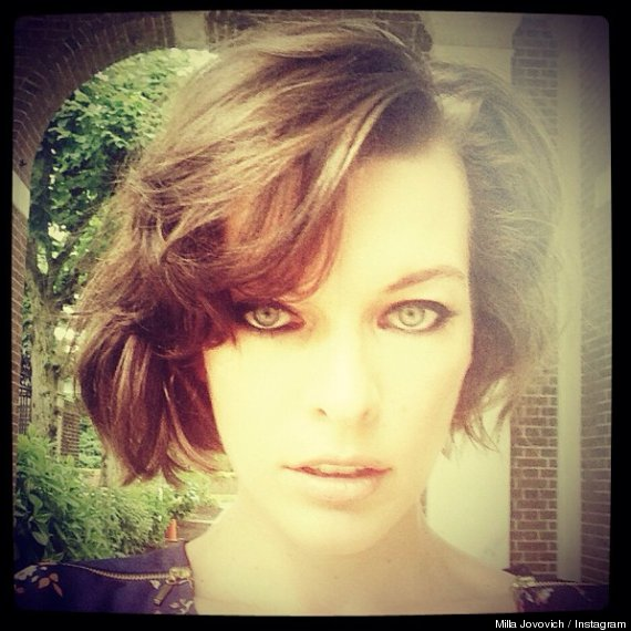 milla jovovich new hairstyle