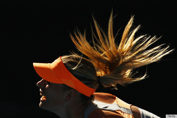 maria sharapova ponytail