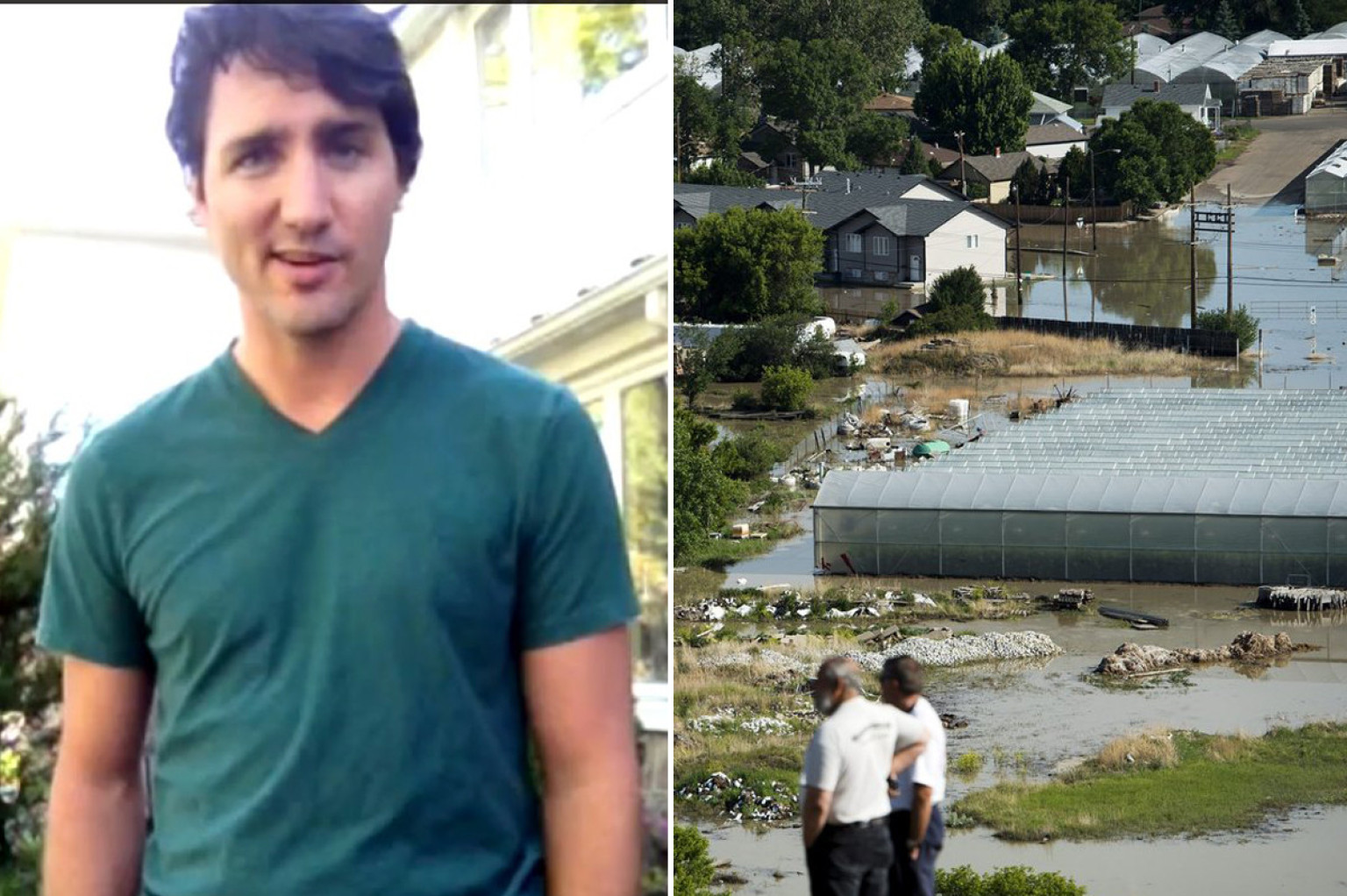 Justin Trudeau Calgary Flood Liberal Leader To Visit
