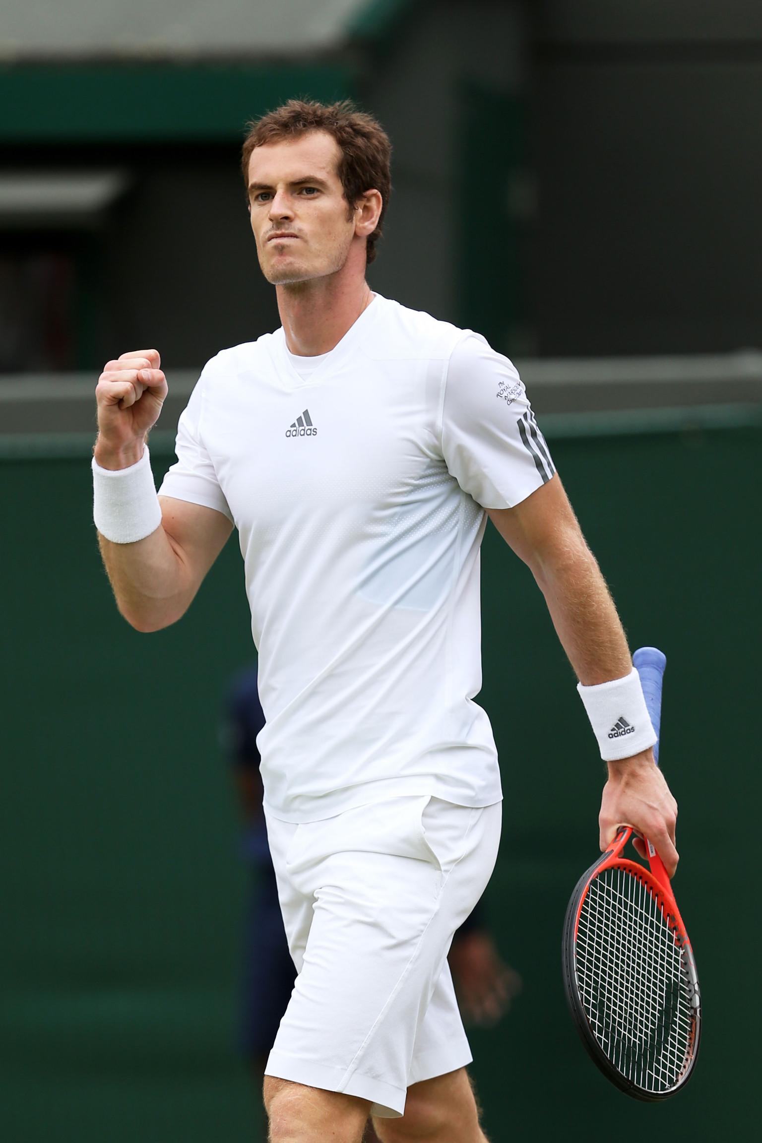 Wimbledon Championships 2013: Andy Murray Wins Against Lu ...  Murray