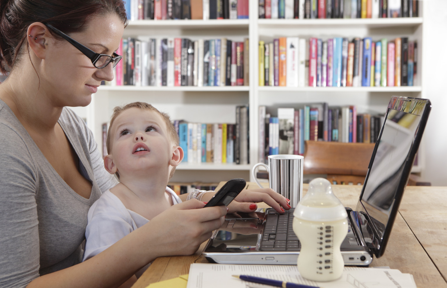 children of working mothers vs stay at In the case of middle class or wealthy families when the mother is working full-time, particularly in the early months of a child's life, there appears to be a mildly increased risk for later behavioral problems and subtle cognitive impact relative to mothers who aren't working or are working part-time.
