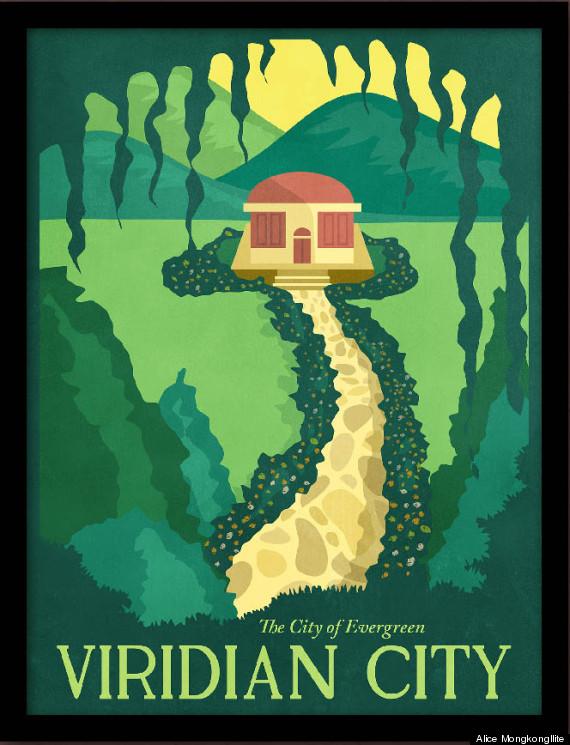pokemon travel posters