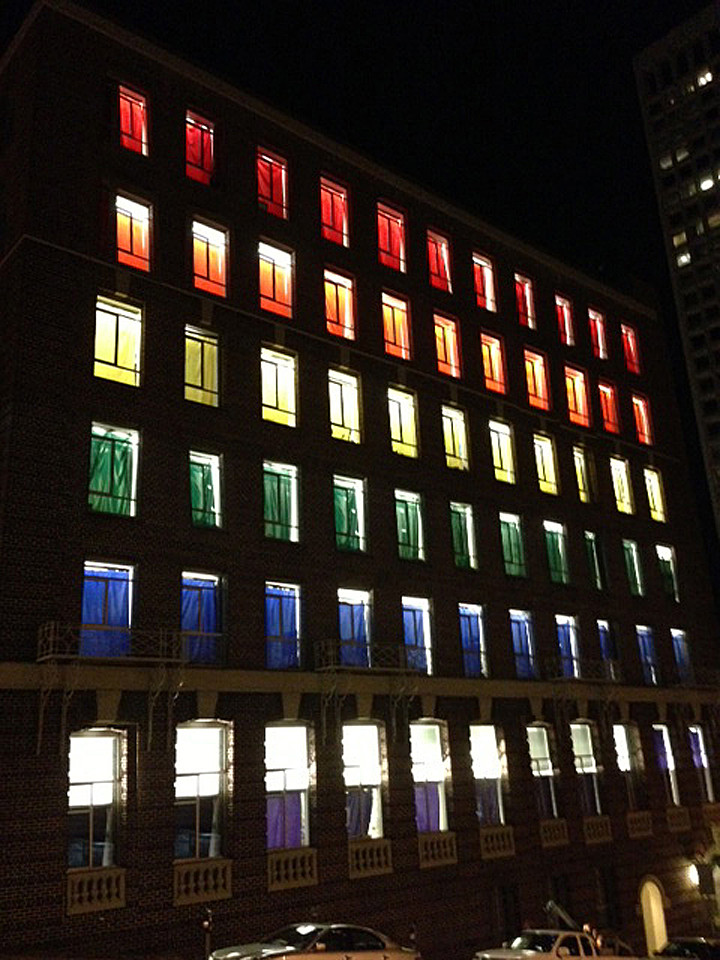 gay pride windows