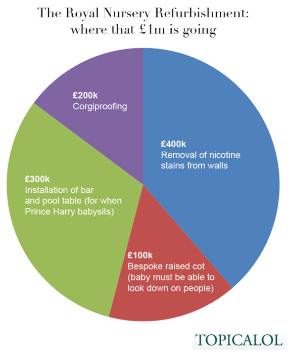royal nursery refurb pie chart