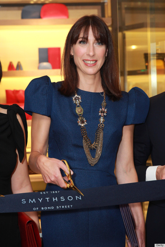 Samantha Cameron S Smythson Store Opening Dress Is