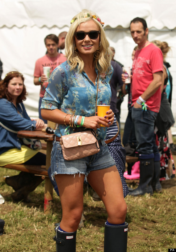 Katherine Jenkins Ditches The Glamour For Wellies To Join