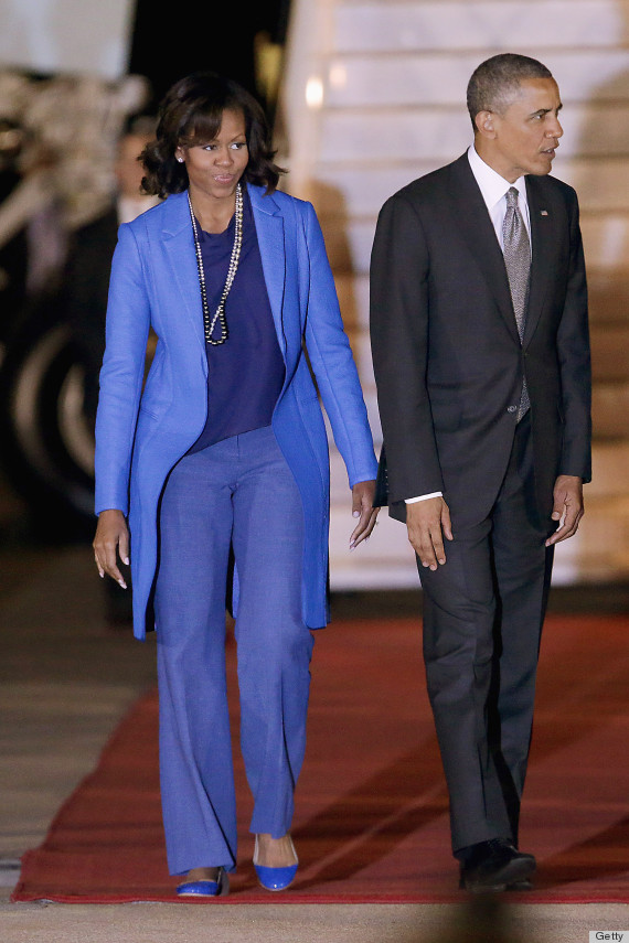 Michelle Obama's South Africa Ensemble Isn't Our Favorite Look (PHOTOS