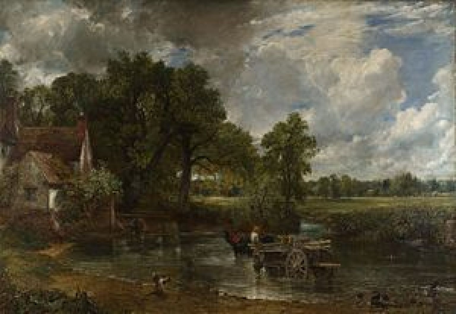 Man Arrested After Sticking Photo To Constable Painting