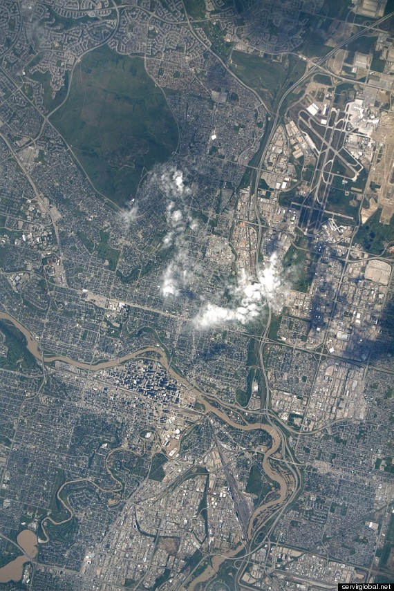 calgary flood from space
