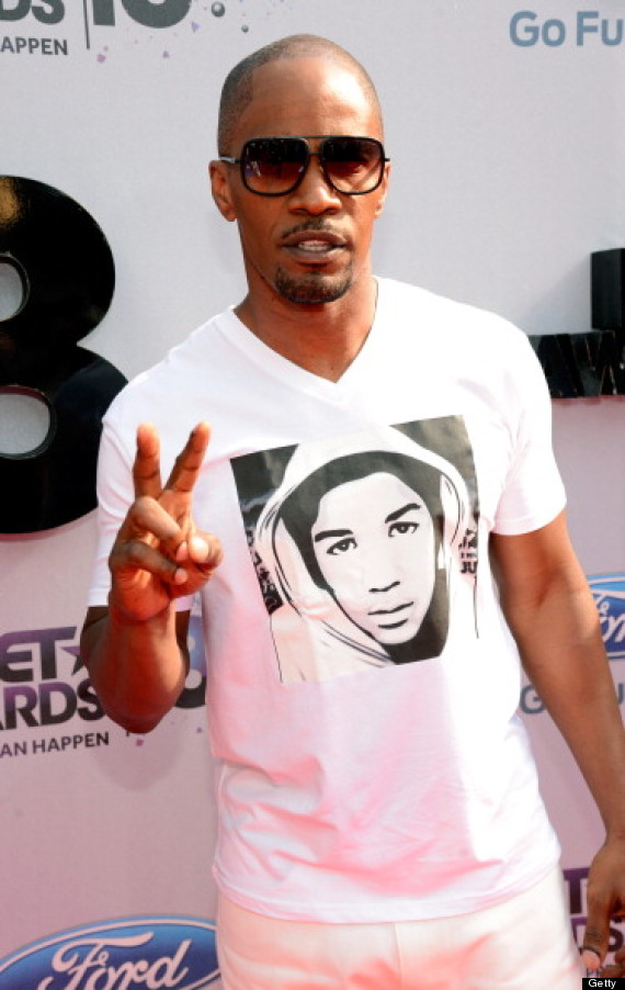 jamie foxx trayvon martin tshirt