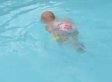 Baby Elizabeth, 16 Months Old, Swims Across Pool By Herself (VIDEO)
