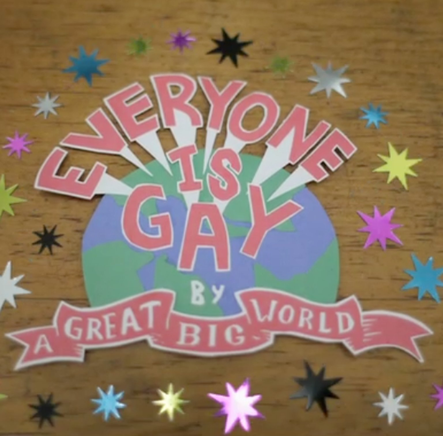 Is a great big world gay