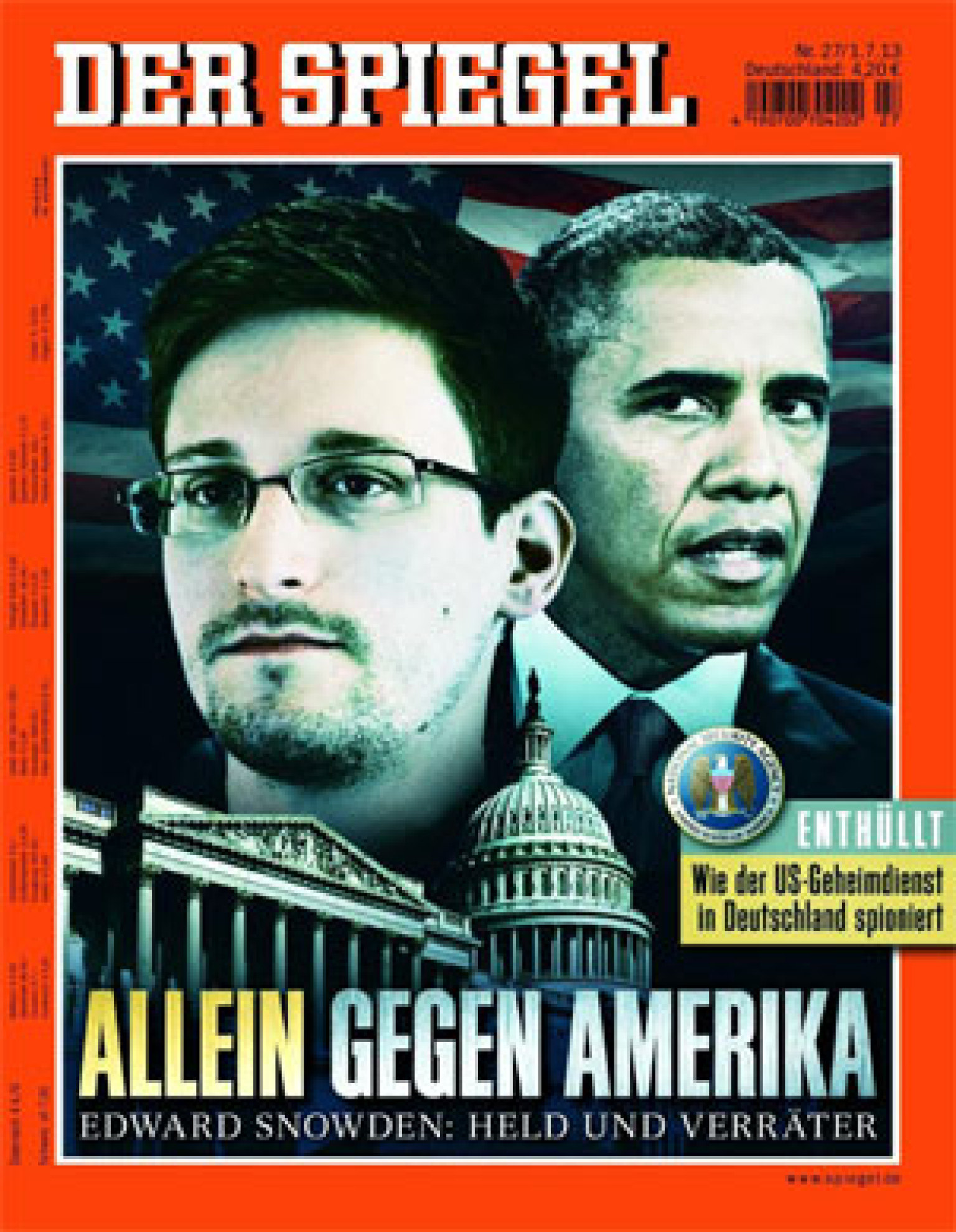 German magazine der spiegel lands latest edward snowden for Der spiegel spanien