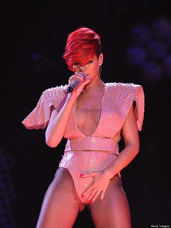 Singer pink in underwear