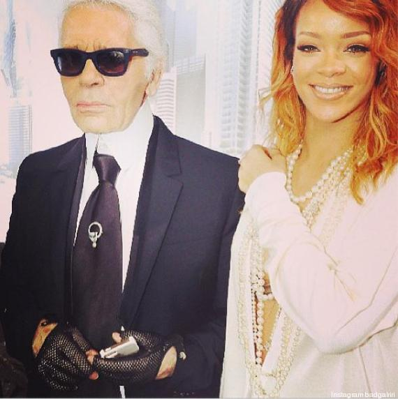 rihanna lagerfeld