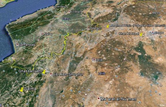 mappa siria