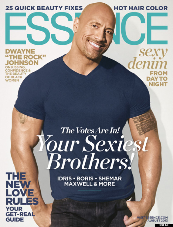 dwayne the rock johnson essence magazine