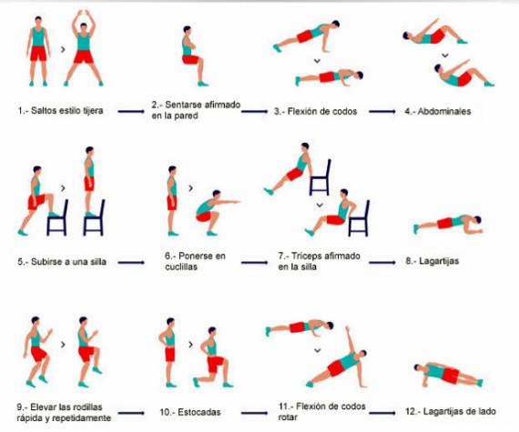 ejercicio isometricos rutinas: