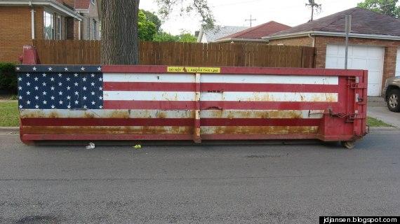 flag dumpster