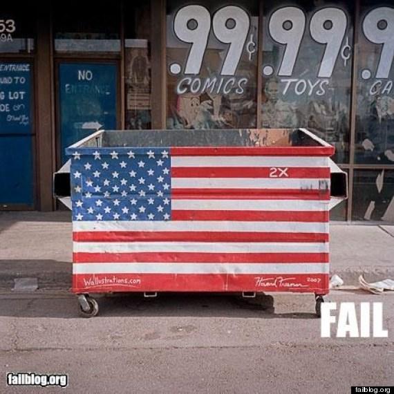 dumpster flag